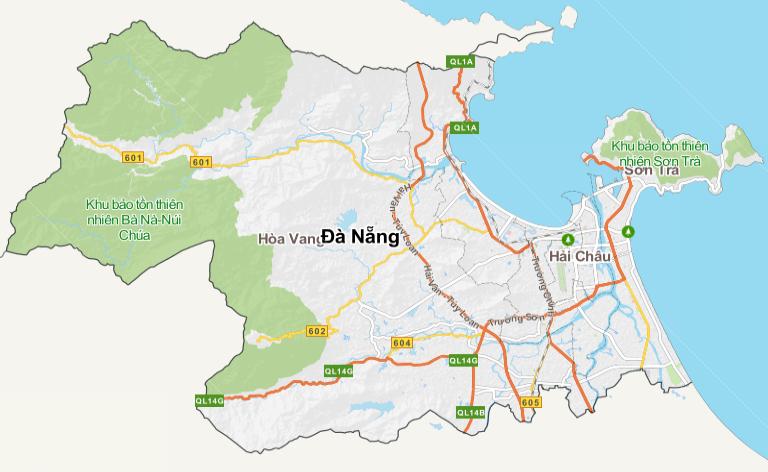 bản đồ địa lý bán đèn led tại đà nẵng