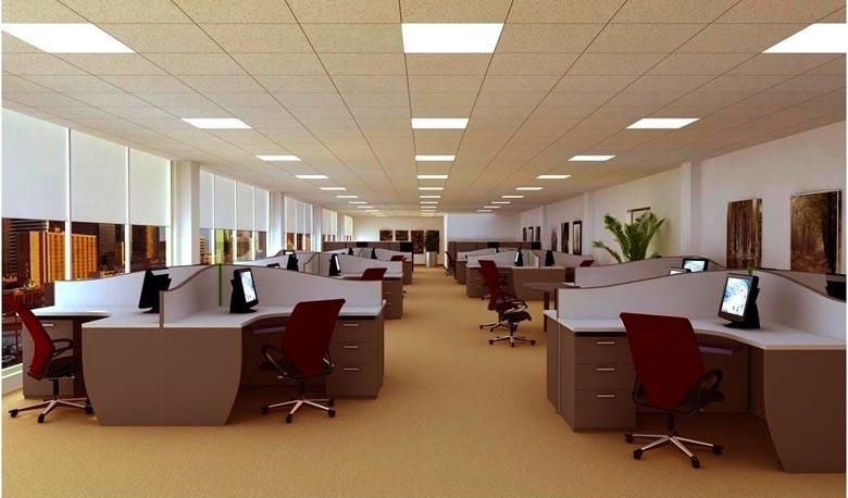 đèn led panel trong chiếu sáng văn phòng