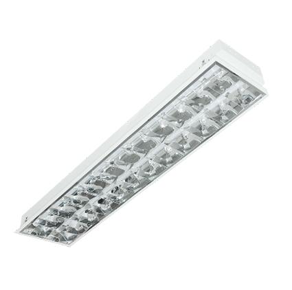 máng đèn led phản quang âm trần duhal lca218 2x18w