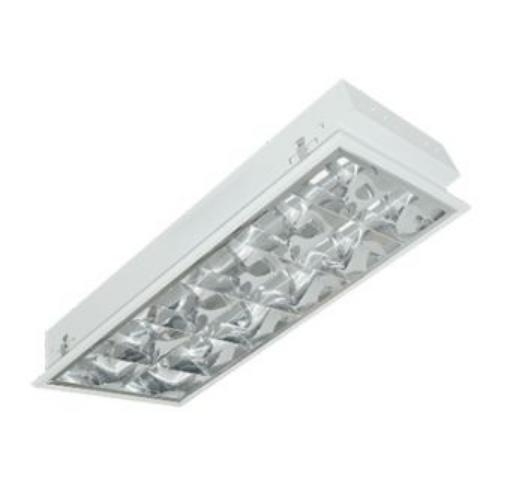 máng đèn led phản quang âm trần 2x9w LCA209 Duhal