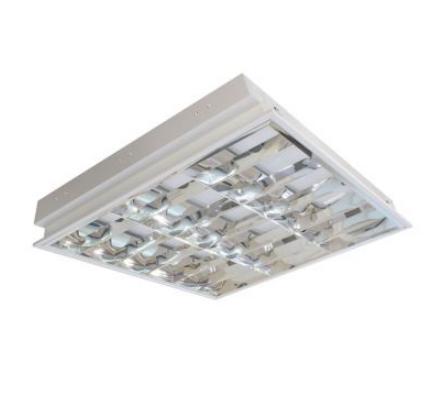máng đèn led phản quang âm trần 4x9w LCA409 Duhal