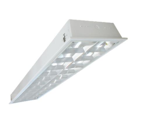 máng đèn led phản quang âm trần 2x9w lda209 duhal