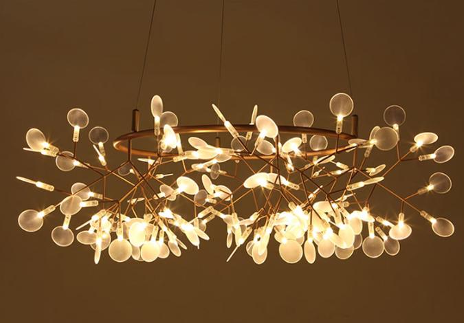 mẫu đèn trang trí phòng khách