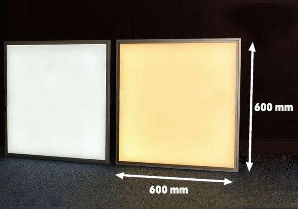 so sánh đèn led panel 600x600 và 300x1200