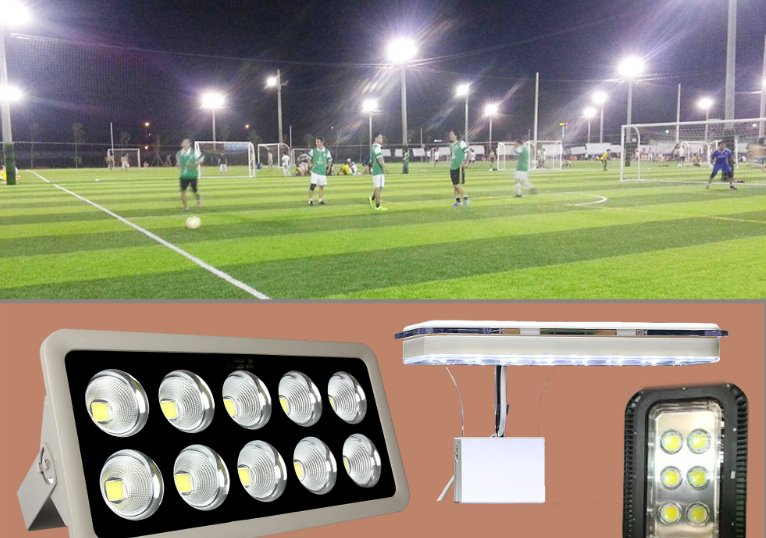 công suất đèn led sân bóng chuyền, sân bóng đá