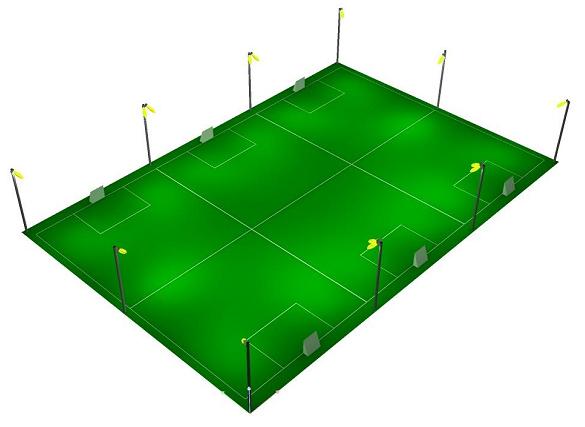 lắp đặt đèn led sân bóng mini 7 người